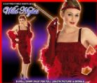 FANCY DRESS COSTUME ROARING 20'S RED FLAPPER XXL 24-26